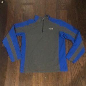 The North Face Grey & blue 1/4 zip fleece jacket
